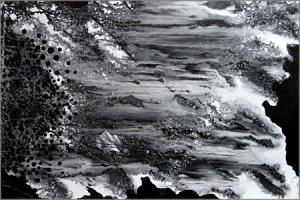 Abstract Black and White painting by Tamal Sen Sharma